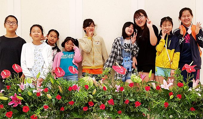 조현지와 순천교회 어린이들