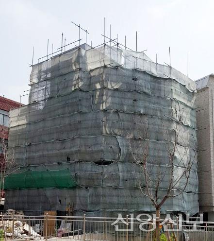 성남교회 신축중