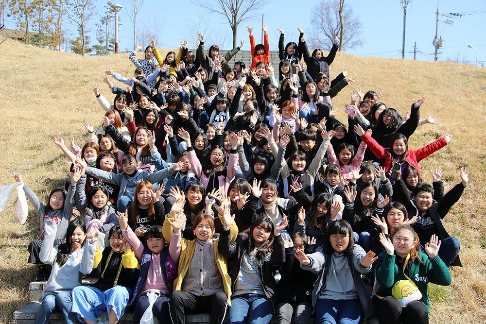 전도의 날 군산교회 어린이들