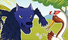 영어동화(8) 늑대와 두루미