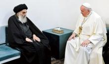 """이슬람 시아파 최고 권위자가 가톨릭 교황에게 """"신 앞에 모든 인간은 평등하다"""""""